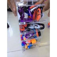 Wholesale acrylic mobile accessories showcase/custom cell phone charger display from china suppliers