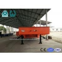 Quality Large Equipment Low Flatbed Trailer / Tri Axle Lowboy Trailers With 8000mm Deck Length for sale