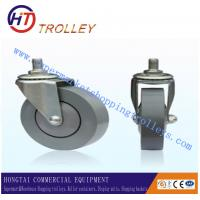 "Wholesale Nursing Equipment Shopping Trolley Spare Parts 4""  PVC Castors 100 mm With Bearing from china suppliers"