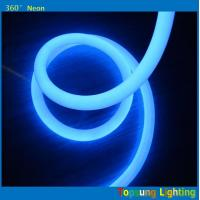 Wholesale hot product 100leds/m blue 360degree round led neon flex light 220v 25m spool from china suppliers