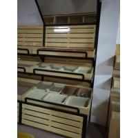 Wholesale Supermarket Wooden Display Rack Fruits and Vegetables Display Rack With Mirror from china suppliers