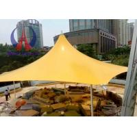 Square Top Steel Frame Tensile Membrane Canopy Structures Longspan Life