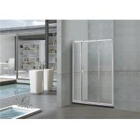 Wholesale Printed Sliding Glass Shower Doors 6MM With Big Brass Wheel SGCC Certification from china suppliers
