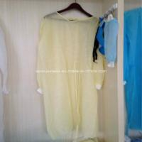 Wholesale Ly Nonwoven Isolation Gown with Knitted Cuffs from china suppliers