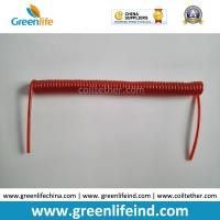 Wholesale Tool Coil Lanyard Cable Steel Wire Core Red Color Good Leash Coil Cord from china suppliers