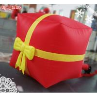Wholesale Multi-color 1m Christmas Inflatable Lucky Bag with Bow for Decoration from china suppliers