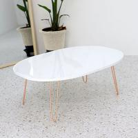 Wholesale Adjustable base with marble color pvc film pressed wood table top MDF laminated from china suppliers