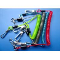 Wholesale 3.0mm / 4.0mm Spring Safety Tool Lanyards With Zin Alloy Swivel Hooks from china suppliers