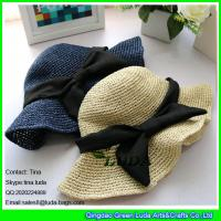Wholesale LDMZ-005 fashion hand crochet hats summer paper straw sunhat from china suppliers