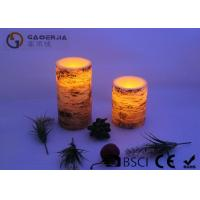 Quality LED Real Wax Tree Candle With Hemp ,  Carved Craft LED Candle for sale
