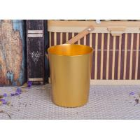 Wholesale 334ml Gold Metal Aluminum Tin Candle Holders / Candle Jar For Home Decoration from china suppliers