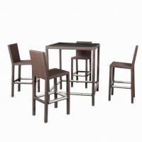 Wholesale Rattan bar table set, garden outdoor/hotel/restaurant/club use, aluminum frame, UV-resist from china suppliers