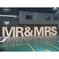 Wholesale Customized 1.5m Height White Light Up Wedding Letters LED Letter Sign For Decoration from china suppliers