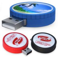 Wholesale Round shape rubber trim Custom USB Memory Sticks flash drive 1GB - 32GB from china suppliers