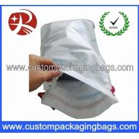 Wholesale Eco Water - proof Drawstring Plastic Bags , Customized Drawstring Bags With Bottom Gusset from china suppliers