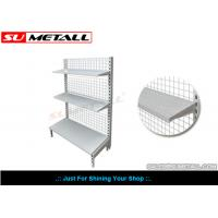 Wholesale Wall Unit Supermarket Display Racks , Convenience Store Shelving Mesh Grid Back Panel from china suppliers