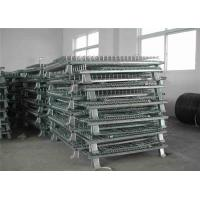 Wholesale silver white Foldable Wire Mesh Cages for Warehouse Storage Corrosion protection from china suppliers