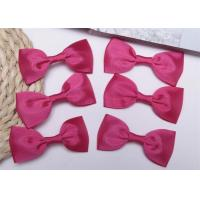 Wholesale Pink Tie Christmas Ribbon Bow Tie , Satin Ribbon Bows Eco Friendly from china suppliers