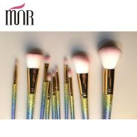 Wholesale Fashion Professional Makeup Brush Set Beautiful Colorful Rainbow Ferrule from china suppliers