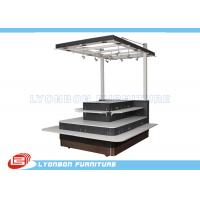 Wholesale MDF Shopping Mall Wooden Kiosk With Wheels , SGS Mobile Display Kiosk from china suppliers