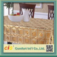Wholesale Custom Printed Popular Modern PVC Table Cloths with Non-woven Fabric Backing from china suppliers