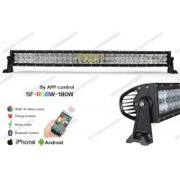 "Wholesale 5D Optical RGB LED Offroad Light Bar 31.5"" Controlled By Phone Bluetooth App from china suppliers"
