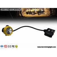Buy cheap 15000lux High Brightness LED Mining Light IP68 Waterproof Miners Cap Lamp from wholesalers