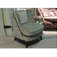 Wholesale Comfortable Luxury Wooden Wingback Chair / Fabric Upholstered Club Chair from china suppliers