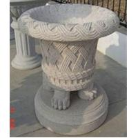 Wholesale Classical Grey Granite Flowerpots, Delicate Garden Stone from china suppliers