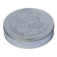 Wholesale Round Race Tuning Metal Tin Box Silver Plain With Embossed Lid from china suppliers