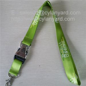 Wholesale Metal release buckle nylon lanyards, nylon lanyard with metal detachable buckle, from china suppliers