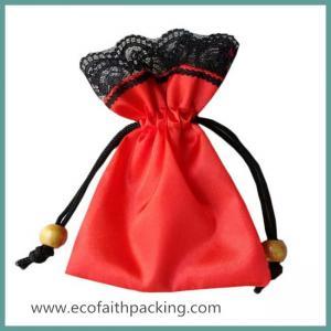Quality elegant satin gifts bag satin package bag for gifts drawstring satin gift pouch bag for sale