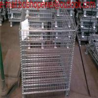 Wholesale warehouse heavy load steel folding container cage/folded roll container wire mesh baskets/Wire Mesh Containers storage from china suppliers