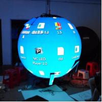 Wholesale Flexible Indoor Hanging Led Video Ball Display , Led Ball Screen Energy Saving from china suppliers