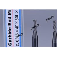 Wholesale HRC50 AlTiN Coating , 2mm Square End Mill , 2 Flute , high precision , Carbide end mill , Grain Size 0.8UM , from china suppliers