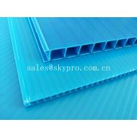 Ultraviolet - Proof Clear Plastic Hollow Board Corrugated Environmentally Friendly