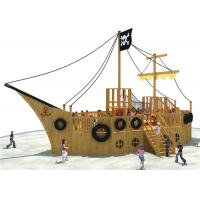 Wholesale Pirate Ship Theme Outdoor Playground Equipment Cool Wooden Playground Structure from china suppliers