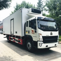 China New HOW0 12-15 tons meat freezer truck refrigerated box truck for sale, HOT SALE! best price HOWO cold room box truck on sale