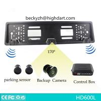 Wholesale DV12 European License Plate Rear View Camera Night Vision With 1pc HD Camera 2pcs Sensor from china suppliers