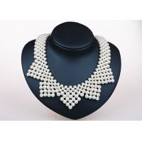 Wholesale Oversized Handmade Bib Pearl Pendant Necklace Designs Fashion Vintage from china suppliers