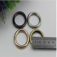 Wholesale Factory manufacturing light gold 25 mm metal o ring iron buckle for bag from china suppliers