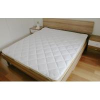 Quality 100% microfiber polyester white mattress protector with 4 corn strip with binding for sale