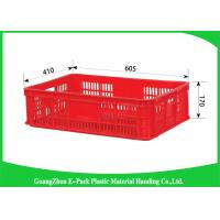 Wholesale Economic Plastic Stacking Crates , Recyclable Industrial Plastic Crates Space Saving from china suppliers
