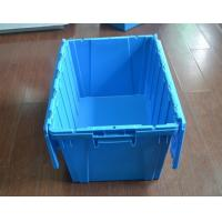 Wholesale plastic crate agriculture Stack and Nest plastic tote crate with lid plastic attached-lid from china suppliers