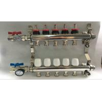 Wholesale Russia Style Long  Flow Meter Radiant Heat Manifold With White Control from china suppliers