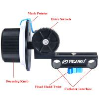 Quality Professional Filmmaking Slot and AB Hard Stop Design DSLR Camera Follow Focus for sale