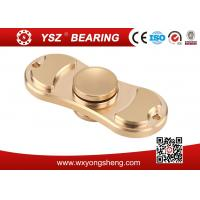Quality Golden / Blue / Pink Brass Hand Spinner Fidget Toy With 608 Bearing 8*22*7mm for sale