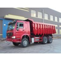 Wholesale Red 16 Tons Large Dump Truck , Heavy Load Truck 6x4 Dump Truck from china suppliers