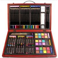 Wholesale Beven 79 Piece Studio Art & Craft Supplies Drawing and Painting Set in Wood Box from china suppliers
