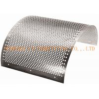 Wholesale SS304/316 Decorative perforated metal plate for building interior partition , size customized from china suppliers